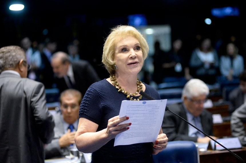 Plenário do Senado Federal durante sessão deliberativa extraordinária.   Em pronunciamento, senadora Marta Suplicy (PMDB-SP).  Foto: Jefferson Rudy/Agência Senado