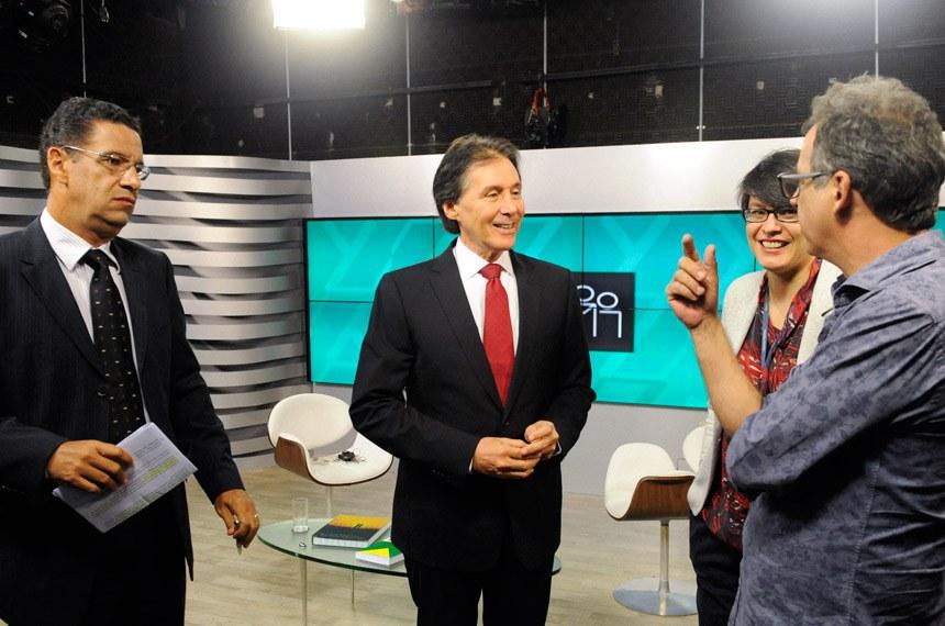 Presidente do Senado Federal, senador Eunício Oliveira (PMDB-CE), concede entrevista ao programa Cidadania da TV Senado. Foto: Marcos Brandão/Senado Federal