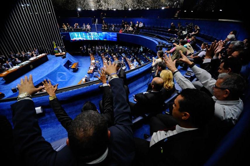 Galerias do Plenário do Senado no dia 31 de outubro, quando foi votado o projeto que regulamenta o serviço de transporte por aplicativo