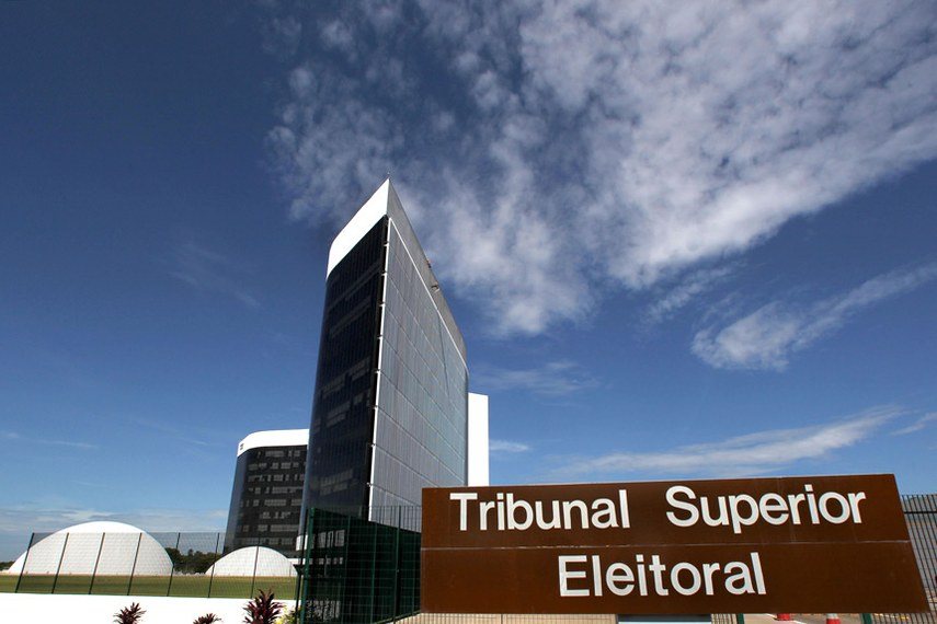Fachada do Tribunal Superior Eleitoral (TSE) em Brasília-DF.