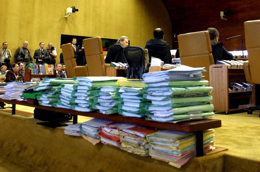 Perspectiva de processos em sessão plenária.