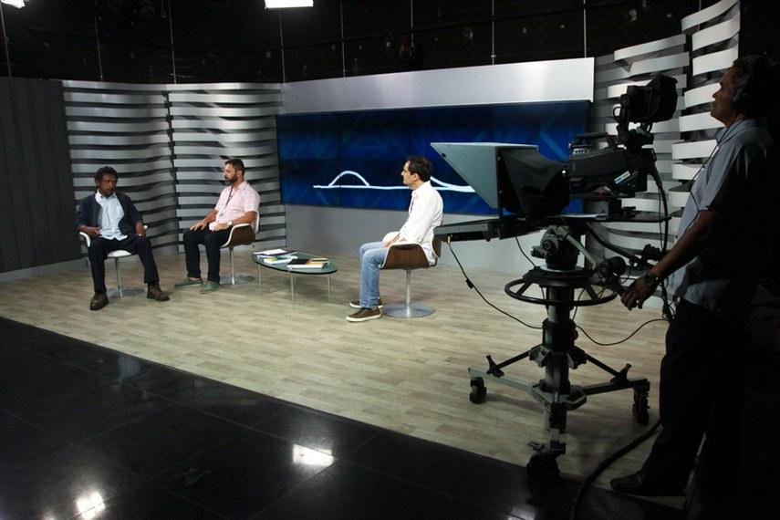 Ensaio técnico da TV Senado para a reabertura dos trabalhos   Foto: Geovanna Pimenta/Senado Federal