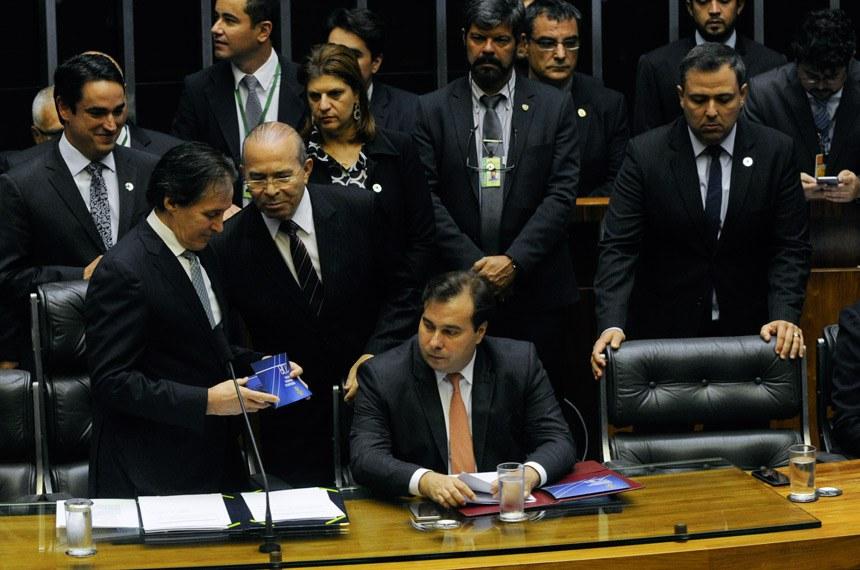 Plenário da Câmara dos Deputados durante sessão solene do Congresso Nacional destinada a inaugurar a 4ª Sessão Legislativa Ordinária da 55ª Legislatura.    Foto: Jane de Araújo/Agência Senado