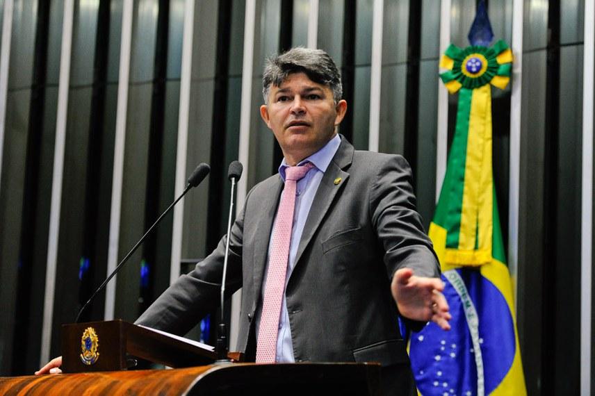 Plenário do Senado Federal durante sessão não deliberativa.   Em discurso, senador José Medeiros (Pode-MT).  Foto: Moreira Mariz/Agência Senado
