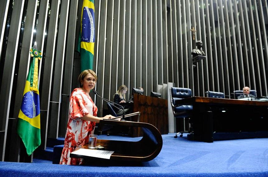 Plenário do Senado Federal durante sessão não deliberativa.   Em discurso, à tribuna, senador Sérgio de Castro (PDT-ES).  Em discurso, à tribuna, senadora Ângela Portela (PDT-RR).  Foto: Marcos Oliveira/Agência Senado