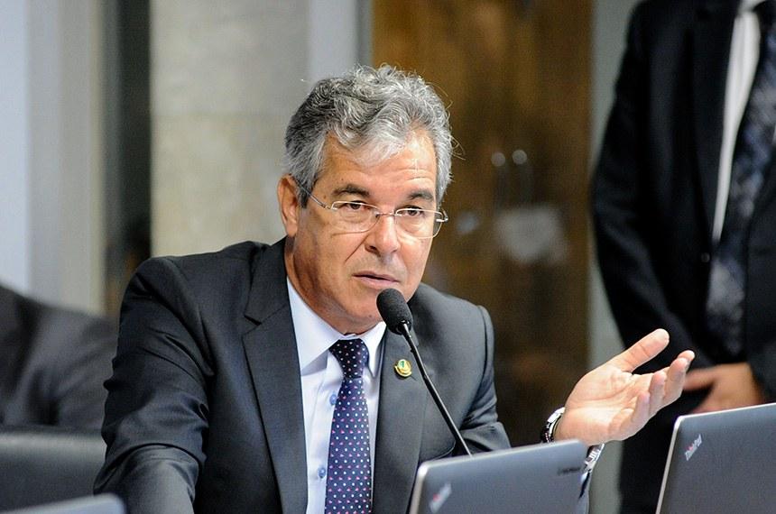 Comissão de Serviços de Infraestrutura (CI) realiza audiência pública para avaliar plano de privatizações do governo.  Em pronunciamento, senador Jorge Viana (PT-AC).  Foto: Pedro França/Agência Senado