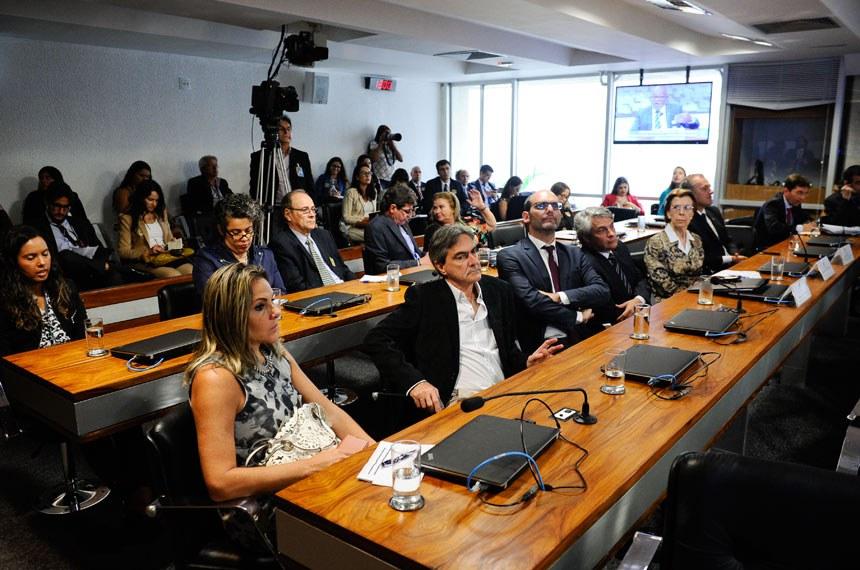 Grupo Parlamentar Brasil-Argentina (GPARGENTINA) realiza audiência pública para discutir criação de organismo bilateral de metrologia, com a presença, entre outros, do embaixador da Argentina.  Convidados acompanham audiência.  Foto: Marcos Oliveira/Agência Senado