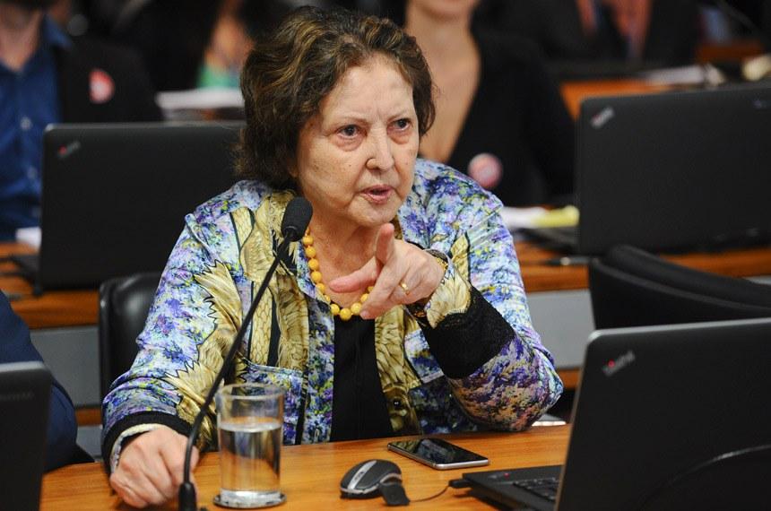 Subcomissão Especial sobre Doenças Raras (CASRARAS) realiza reunião para discussão do plano de trabalho.  Em pronunciamento, senadora Maria do Carmo (DEM-SE).  Foto: Marcos Oliveira/Agência Senado