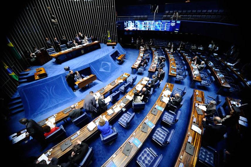 Geral do Plenário do Senado Federal durante sessão deliberativa ordinária. Ordem do dia.   Foto: Marcos Oliveira/Agência Senado