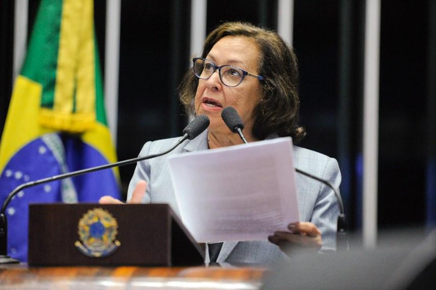 Plenário do Senado Federal durante sessão deliberativa ordinária.   Em pronunciamento, senadora Lídice da Mata (sem-partido-BA).   Foto: Moreira Mariz/Agência Senado