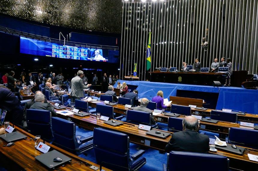 Plenário do Senado Federal durante sessão deliberativa ordinária. Ordem do dia  À mesa, presidente do Senado, senador Eunício Oliveira (PMDB-CE).  Foto: Roque de Sá/Agência Senado