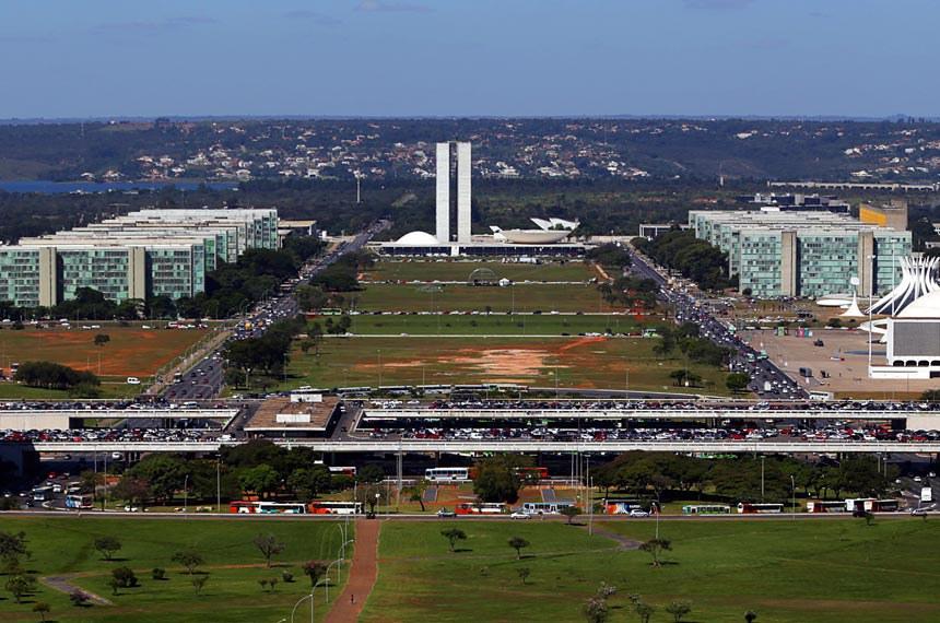 Foto aérea do centro de Brasília.