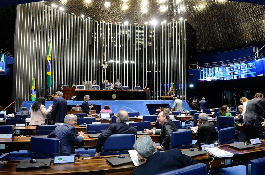 Plenário do Senado Federal durante sessão deliberativa ordinária.   À tribuna em discurso, senadora Vanessa Grazziotin (PCdoB-AM).  Foto: Waldemir Barreto/Agência Senado