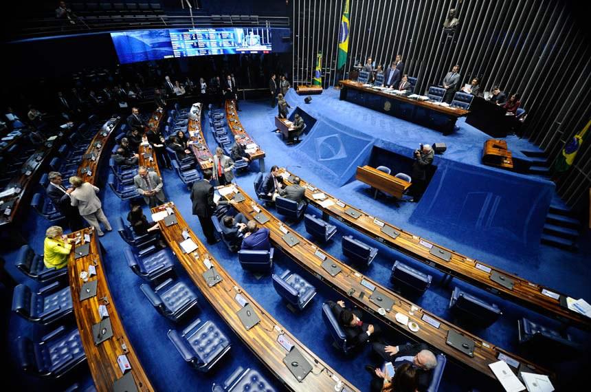 Plenário do Senado Federal durante sessão deliberativa ordinária. Ordem do dia.   À mesa, presidente do Senado, senador Eunício Oliveira (PMDB-CE).  Foto: Marcos Oliveira/Agência Senado