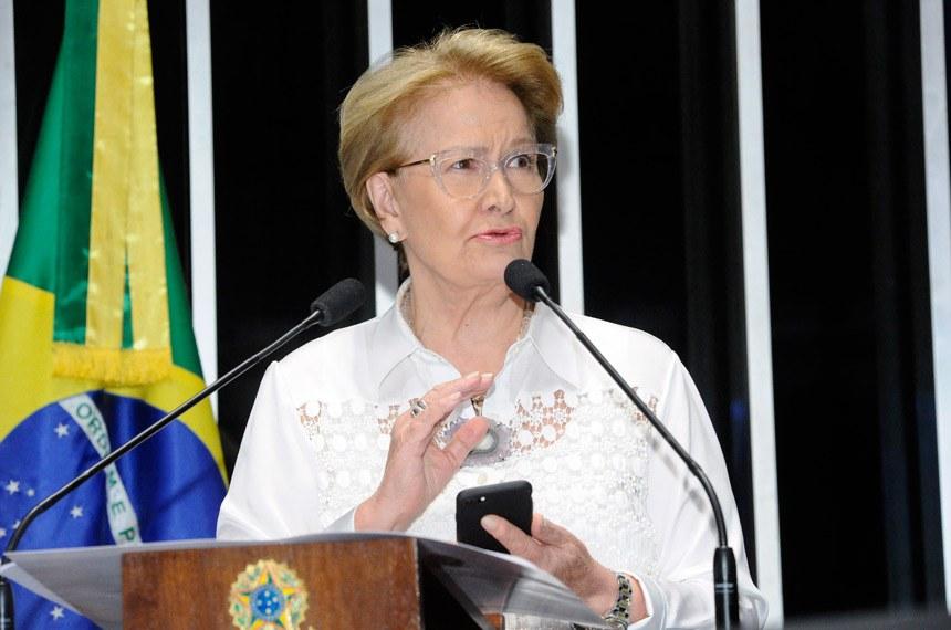 Plenário do Senado Federal durante sessão não deliberativa. Em discurso, senadora Ana Amélia (PP-RS).Foto: Waldemir Barreto/Agência Senado