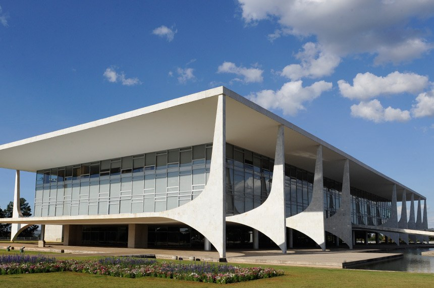 Geral do prédio do Palácio do Planalto.
