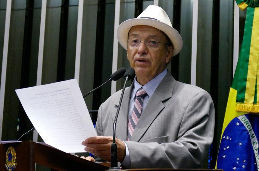 Plenário do Senado Federal durante sessão deliberativa ordinária.   À tribuna em discurso, senador Antonio Carlos Valadares (PSB-SE).  Foto: Roque de Sá/Agência Senado