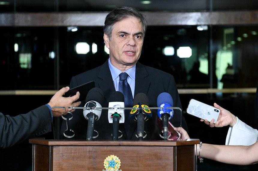 Senador Cássio Cunha Lima (PSDB-PB) concede entrevista.    Foto: Jaciara Aires/Gab. do Sen. Cassio Cunha Lima