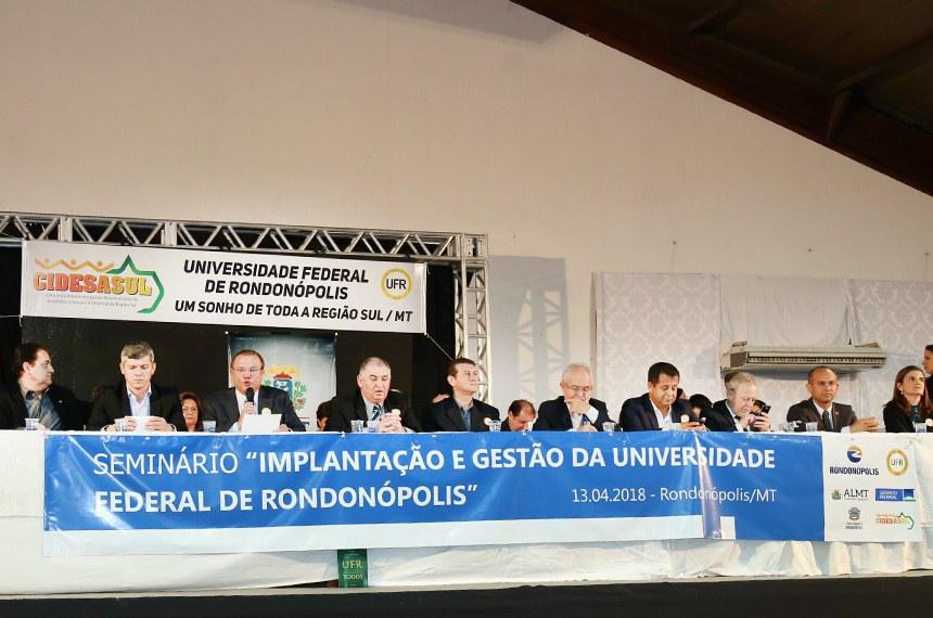 O Seminário foi realizado em Rondonópolis, na última sexta-feira (13)