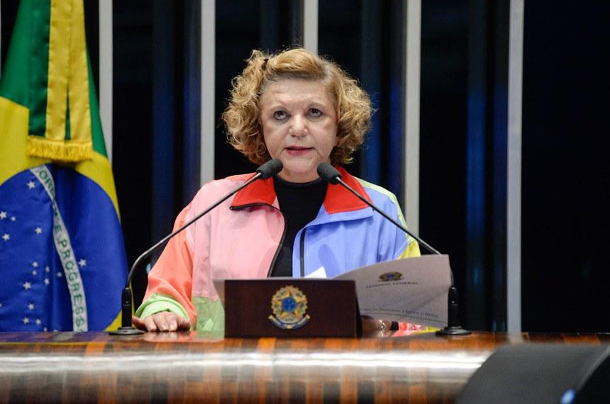 Plenário do Senado Federal durante sessão deliberativa ordinária.   À tribuna em discurso, senadora Lúcia Vânia (PSB-GO).  Foto: Roque de Sá/Agência Senado