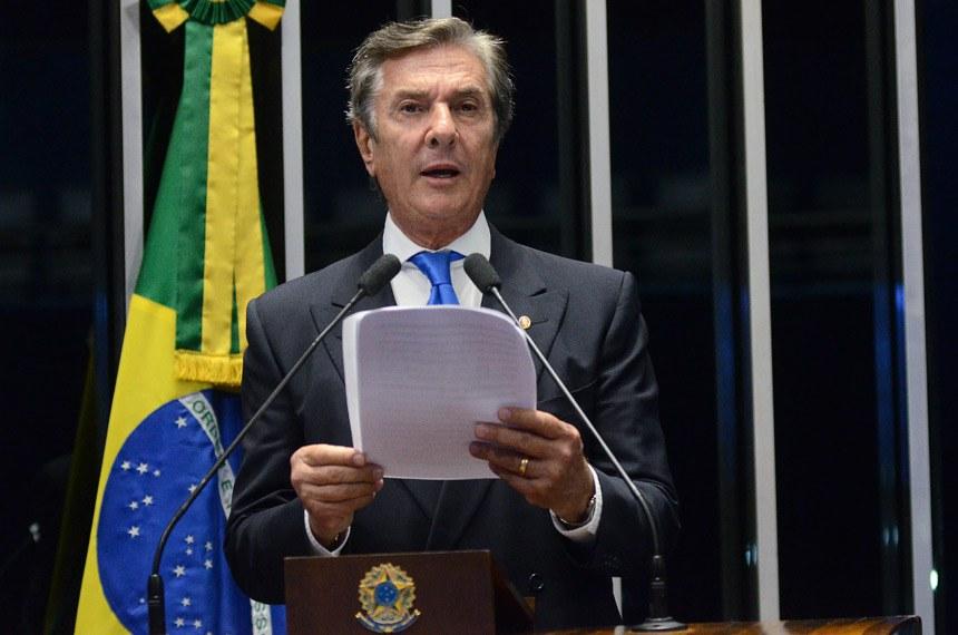 Plenário do Senado Federal durante sessão deliberativa ordinária.   À tribuna em discurso, senador Fernando Collor (PTC-AL).  Foto: Roque de Sá/Agência Senado