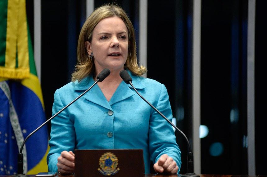 Plenário do Senado Federal durante sessão deliberativa ordinária.   À tribuna em discurso, senadora Gleisi Hoffmann (PT-PR).  Foto: Jefferson Rudy/Agência Senado