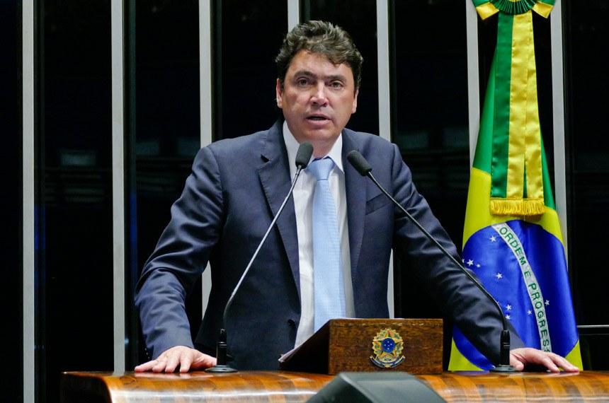 Plenário do Senado Federal durante sessão deliberativa ordinária.   À tribuna em discurso, senador Wilder Morais (PP-GO).  Foto: Roque de Sá/Agência Senado