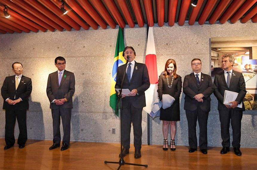 Comitiva do Senador Eunicio Oliveira (PMDB-CE), presidente do Senado Federal, em visita ao Japão.  15–16 de abr 2018
