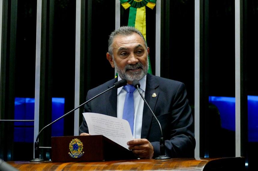 Plenário do Senado Federal durante sessão deliberativa ordinária.   À mesa, senador Telmário Mota (PTB-RR).  Foto: Roque de Sá/Agência Senado