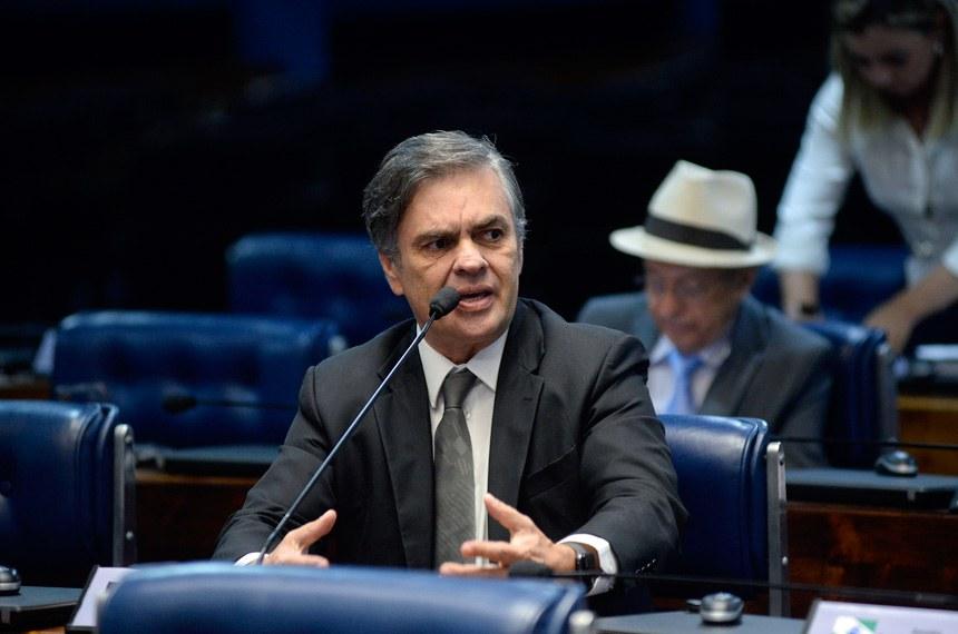 Plenário do Senado Federal durante sessão deliberativa ordinária. Ordem do dia.  Em pronunciamento, senador Cássio Cunha Lima (PSDB-PB).  Foto: Jefferson Rudy/Agência Senado