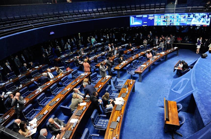 Plenário do Senado Federal durante sessão deliberativa ordinária.   Geral do Plenário  Senadores reunidos acompanham sessão.  Foto: Jonas Pereira/Agência Senado