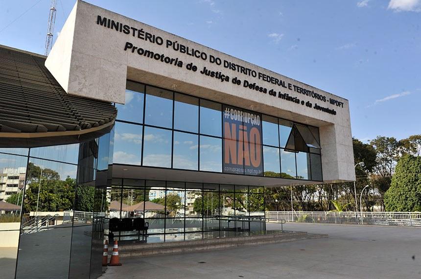 Fachada do Ministério Público do Distrito Federal e Territórios.