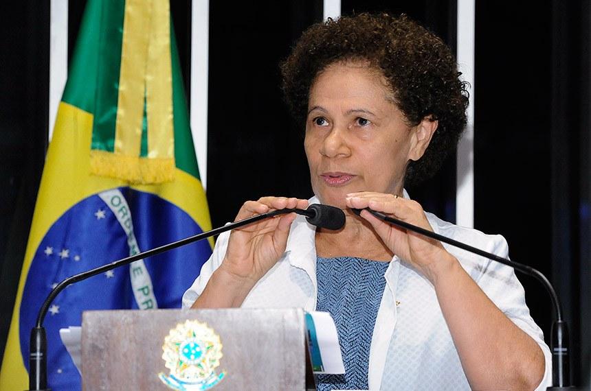 Plenário do Senado Federal durante sessão deliberativa ordinária.   Em pronunciamento, senadora Regina Sousa (PT-PI).  Foto: Waldemir Barreto/Agência Senado