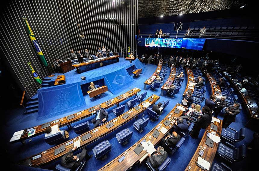 Plenário do Senado Federal durante sessão deliberativa ordinária. Ordem do dia.  Mesa: presidente do Senado, senador Eunício Oliveira (PMDB-CE). senador Eduardo Braga (PMDB-AM).  Foto: Jonas Pereira/Agência Senado