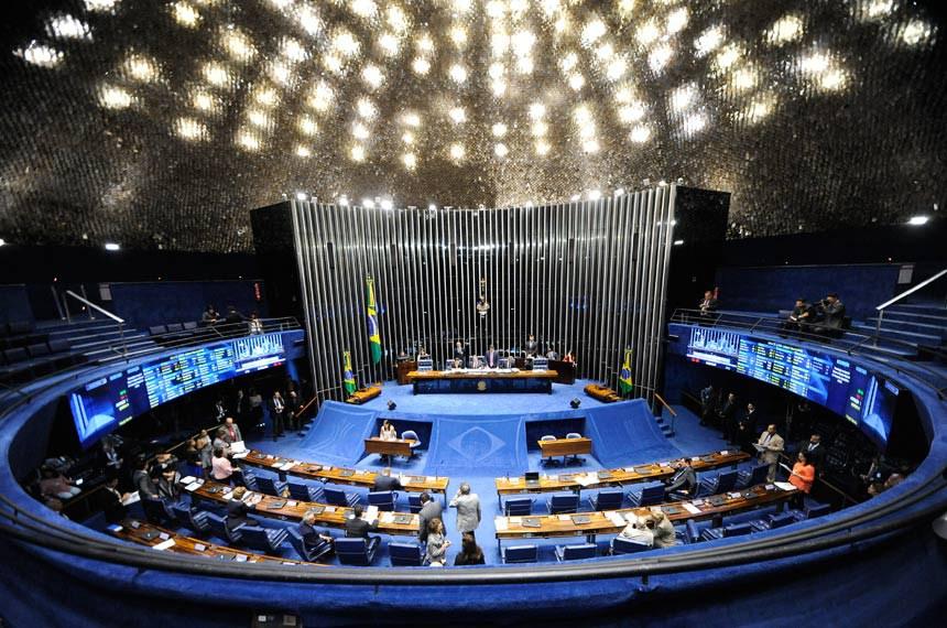 Plenário do Senado Federal durante sessão deliberativa ordinária.   À mesa, presidente do Senado Federal, senador Eunício Oliveira (PMDB-CE), conduz sessão.  Foto: Jonas Pereira/Agência Senado