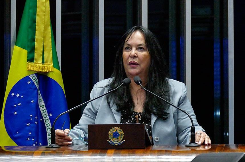 Plenário do Senado Federal durante sessão deliberativa ordinária.  Em discurso, à tribuna, senadora Rose de Freitas (Pode-ES).   Foto: Roque de Sá/Agência Senado