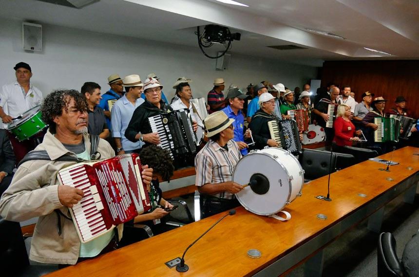 Comissão de Desenvolvimento Regional e Turismo (CDR) realiza audiência pública interativa para discutir proposta de salvaguarda à cultura do forró, reconhecendo-a como patrimônio imaterial da cultura brasileira.  Foto: Roque de Sá/Agência Senado