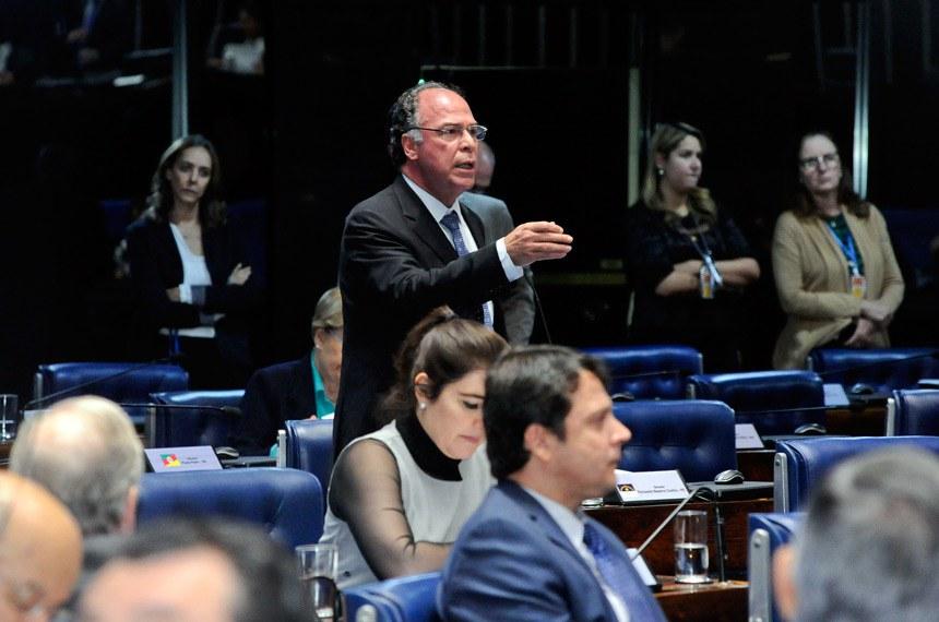 Plenário do Senado Federal durante sessão deliberativa ordinária. Ordem do dia.  Em pronunciamento, à bancada, senador Fernando Bezerra Coelho (PMDB-PE).  Foto: Waldemir Barreto/Agência Senado