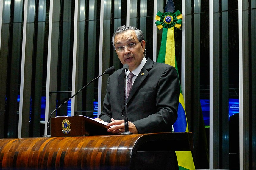 Plenário do Senado Federal durante sessão deliberativa ordinária.   Em discurso, senador Eduardo Amorim (PSDB-SE).  Foto: Roque de Sá/Agência Senado