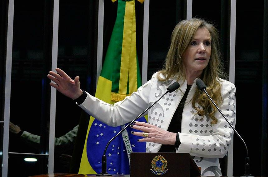 Plenário do Senado Federal durante sessão deliberativa ordinária.   Em discurso, senadora Vanessa Grazziotin (PCdoB-AM).  Foto: Roque de Sá/Agência Senado