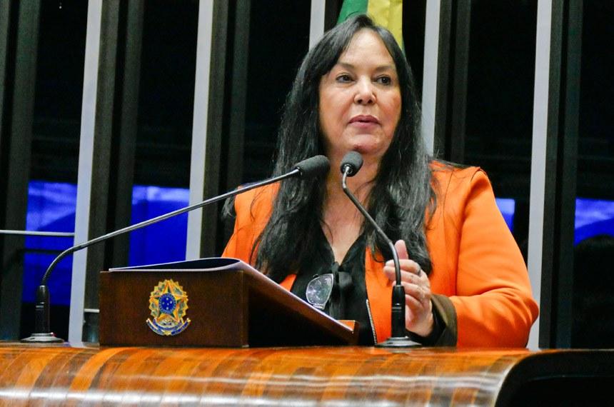 Plenário do Senado Federal durante sessão deliberativa ordinária.   Em discurso, senadora Rose de Freitas (Pode-ES).  Foto: Roque de Sá/Agência Senado