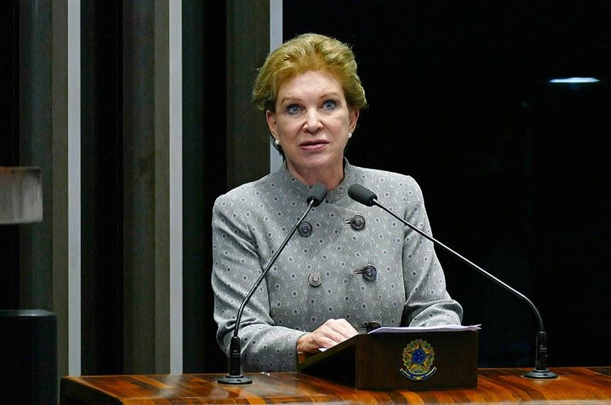 Plenário do Senado Federal durante sessão deliberativa ordinária.   Em discurso, à tribuna, senadora Marta Suplicy (MDB-SP).  Foto: Roque de Sá/Agência Senado