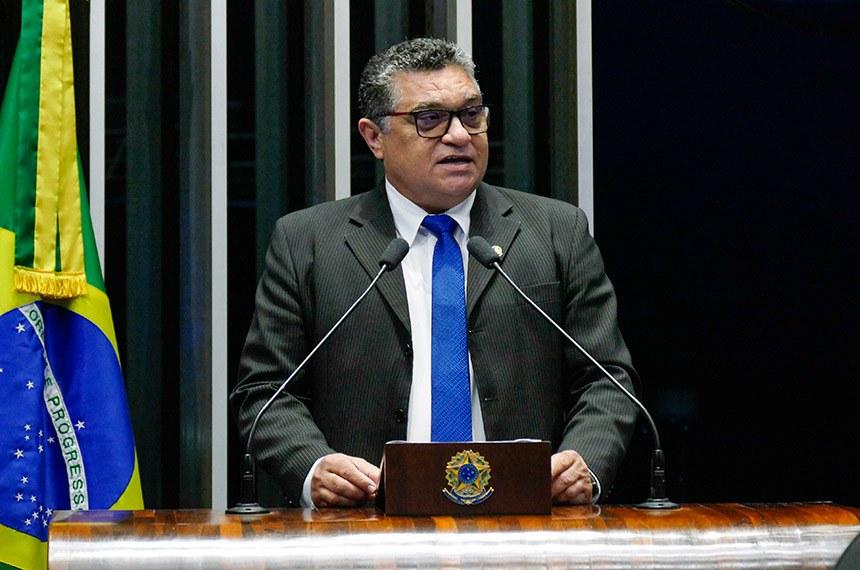 Plenário do Senado Federal durante sessão deliberativa ordinária.   Em discurso, à tribuna, senador Rudson Leite (PV-RR).  Foto: Roque de Sá/Agência Senado