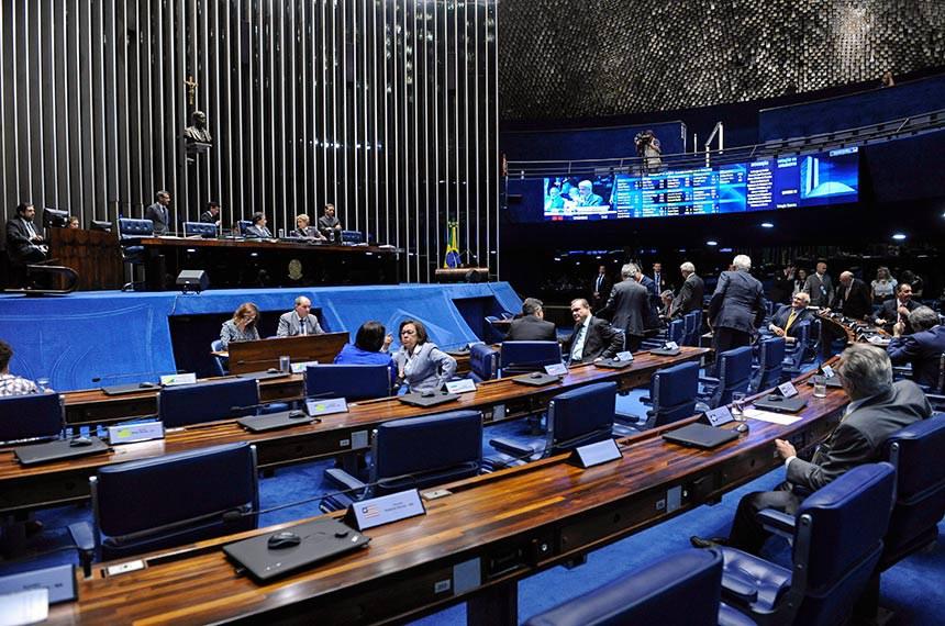 Plenário do Senado Federal durante sessão deliberativa ordinária. Ordem do dia.   Mesa:  presidente do Senado Federal, senador Eunício Oliveira (MDB-CE); senadora Marta Suplicy (MDB-SP).  Foto: Jonas Pereira/Agência Senado