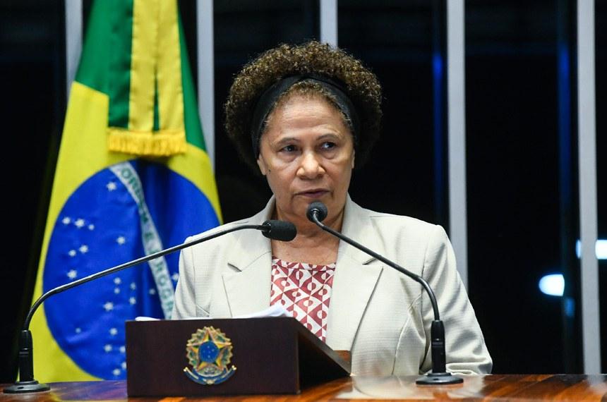 Plenário do Senado Federal durante sessão deliberativa extraordinária.   À tribuna em discurso, senadora Regina Sousa (PT-PI).  Foto: Marcos Oliveira/Agência Senado