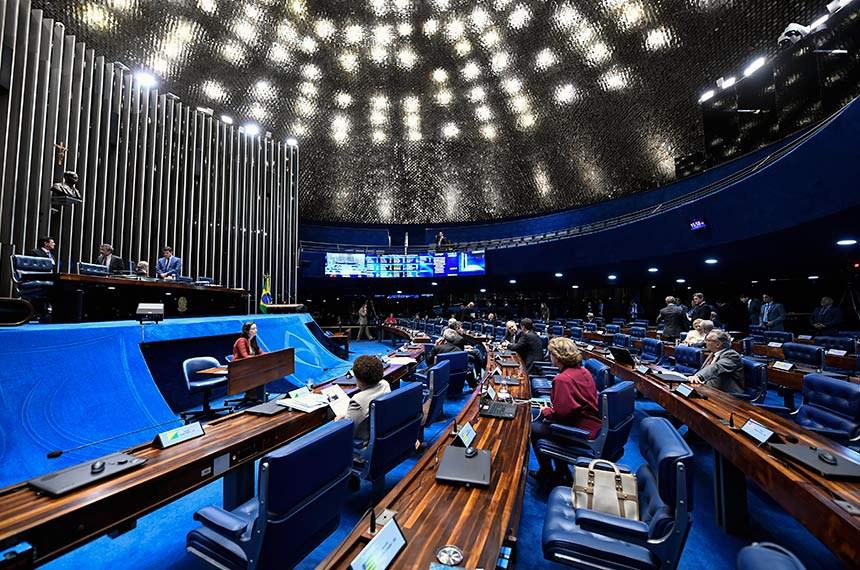 Plenário do Senado Federal durante sessão deliberativa extraordinária.   À mesa, senador José Pimentel (PT-CE) conduz sessão.  Foto: Waldemir Barreto/Agência Senado