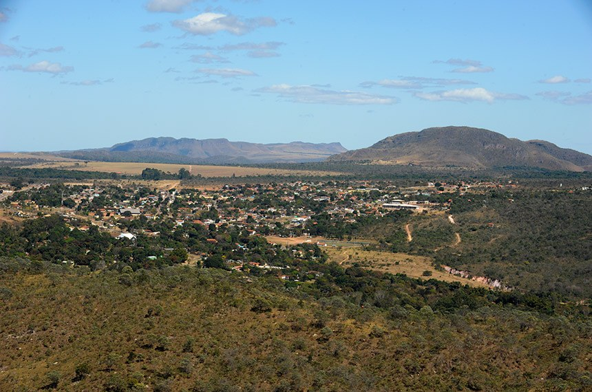 Vista de Alto Paraíso (GO), onde se localiza a Chapada dos Veadeiros, município recém inclcuído na RIDE do DF.