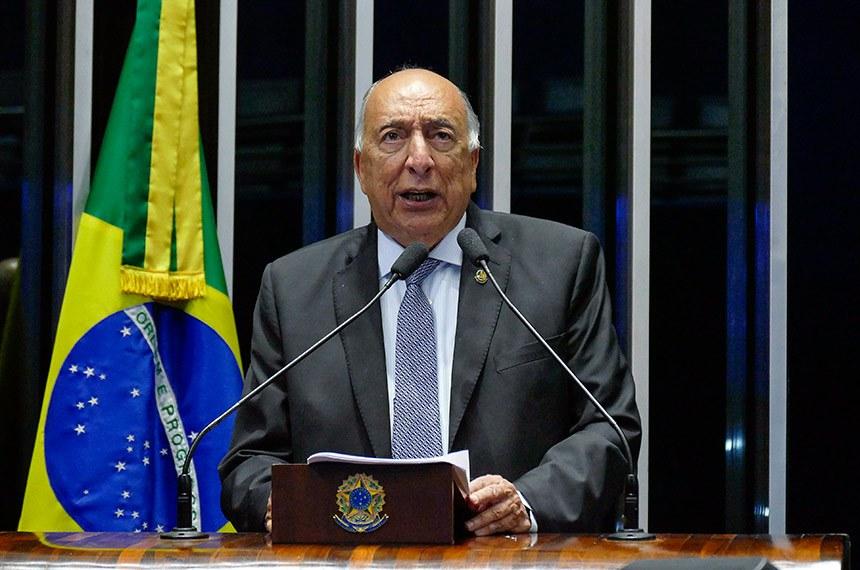 Plenário do Senado Federal durante sessão não deliberativa.   Em discurso, à tribuna, senador Pedro Chaves (PRB-MS).  Foto: Roque de Sá/Agência Senado