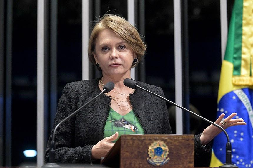 Plenário do Senado Federal durante sessão deliberativa ordinária.   À tribuna em discurso, senadora Ângela Portela (PDT-RR).  Foto: Waldemir Barreto/Agência Senado