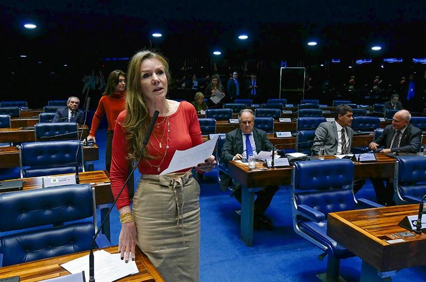 Plenário do Senado Federal durante sessão deliberativa ordinária. Ordem do dia.    Em pronunciamento, senadora Vanessa Grazziotin (PCdoB-AM) à bancada.  Foto: Roque de Sá/Agência Senado